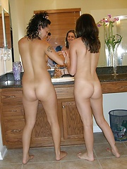 Two Amateur Girls Spreading Apart And Modeling Nude