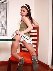 Young Jenny studying female anatomy!