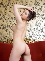 Stunning brunette with natural, girl-next-beauty, athletic body, and sexy, perky breasts.