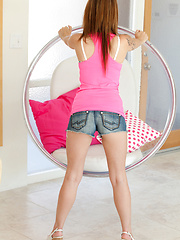 Hanging Chair In Pink