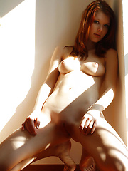Armed with a naughty smile and seductive yet charming look, Mia Sollis is very tempting and exciting as she strips and flaunts her gorgeous body in front of the camera.