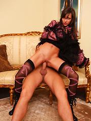Viktoria rides cock