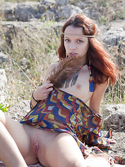 Ancient Indian legends tell us a story about the Rock of Love. Seems that this hot teen girl has found the root of the legend.