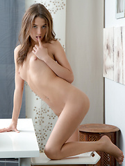 Stunning Nubile strips down to give you a taste of her naughty side