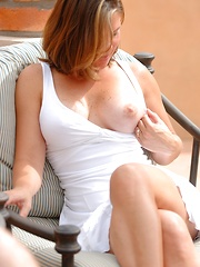 Liora shows it off outdoors