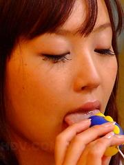 Slutty darling Nagisa loves to masturbate