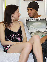 Ebony thug is drilling his passionate white girlfriend