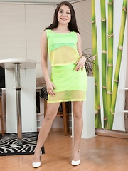 Bellavitana strips off yellow dress and lingerie